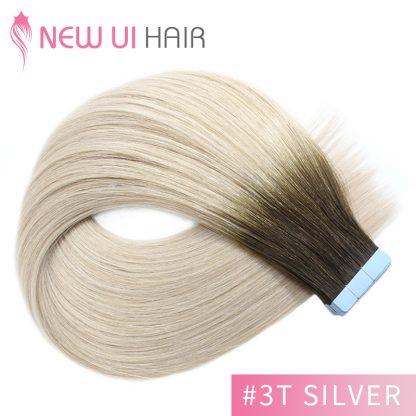 #3T silver tape hair