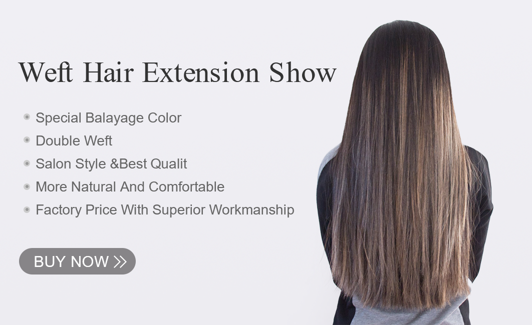 weft hair extensions show