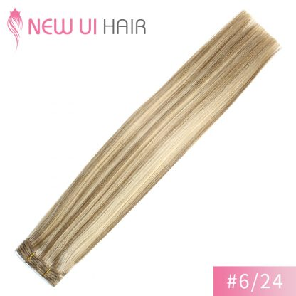 #6-24 weft hair