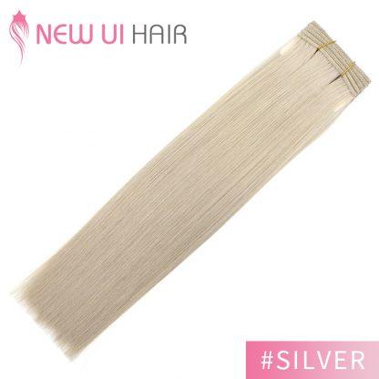 #silver weft hair