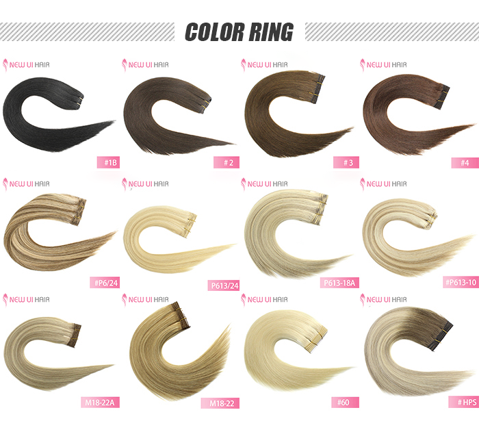 weft hair color ring