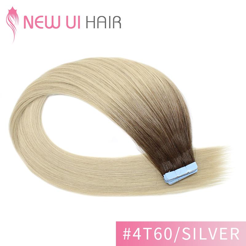 #4t60-silver tape hair
