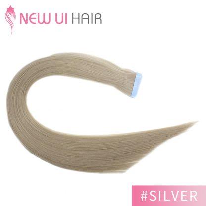 #Silver tape hair 03