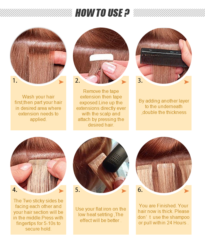 tape hair how to use